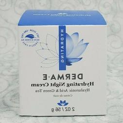 DERMA E Night Cream Hydrating Hyaluronic Acid & Green Tea Cr