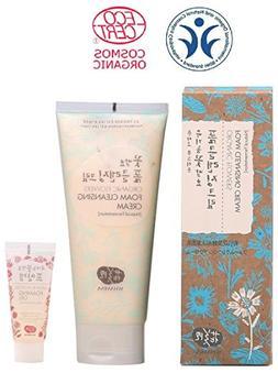 Whamisa Organic Flowers Foam Cleansing Cream 200ml - Natural