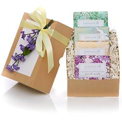 ORGANIC HANDMADE SOAP GIFT SET - Scented w/100% Pure Essenti
