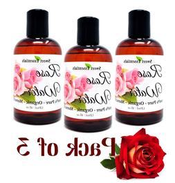 PACK of 3 Premium Organic Moroccan Rose Water - 4oz - Import