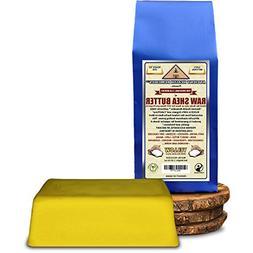 Organic Unrefined Raw AFRICAN YELLOW SHEA BUTTER 1 LB  BLOCK