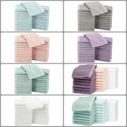 Pack Of 24 Cotton Face Washcloths Wash Cleaning Hotel Barber