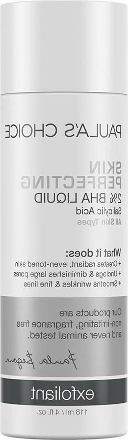 Paula's Choice Skin Perfecting 2% BHA Liquid 4 oz New -
