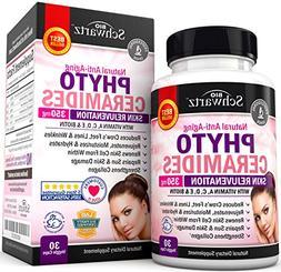 Phytoceramides 350 mg with Biotin 5000 - Gluten Free Powerfu