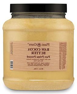 Raw Cocoa Butter 3 lb. Bulk 100% Pure Fresh Natural Cold Pre