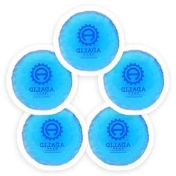 Small Round Gel Ice Packs with Cloth Backing for Hot or Cold