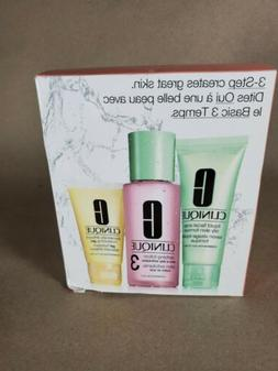 Clinique 3 Step Set Oily Skin, Facial Soap 1oz/Clarifying Lo