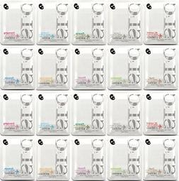 SLC Korean Essence Facial Mask Sheet x 20 pcs Combo Pack, Mo