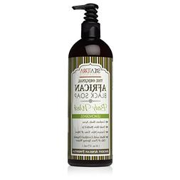 Shea Terra Organics African Black Soap Body Wash with Lemong
