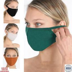Soft Cotton Face Mask Double Layer Reusable Washable Breatha