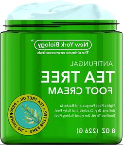 New York Biology Tea Tree Oil Foot Cream for Dry Cracked Fee