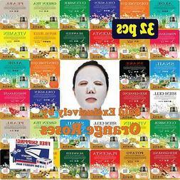 32 pcs Ultra Hydrating Essence Facial Mask Sheets , Korean
