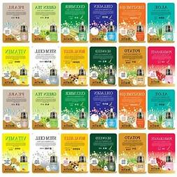 24 pcs Ultra Hydrating Essence Mask, Korean Facial Mask She