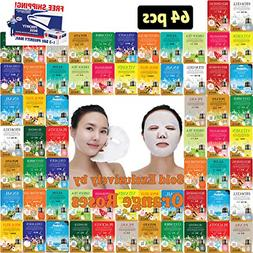 64 pcs Ultra Hydrating Essence Mask, Korean Facial Mask She