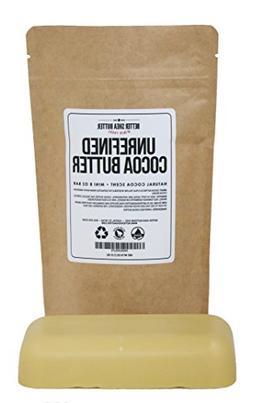 Unrefined Cocoa Butter - Raw, 100% Pure with Natural Cocoa S
