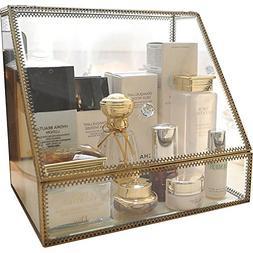 Vintage Large Cosmetics Makeup Organizer Storage Case Holder
