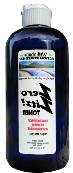 Wellinhand's Zero Zitz!® Toner Emergency Power, 16 fl.oz.
