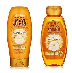 Garnier Whole Blends Illuminating Moroccan Argan Shampoo Con