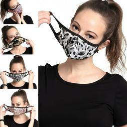 Womens Fashionable Face Mask Pattern Washable Reusable Cloth