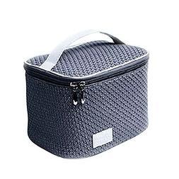 Garrelett Cosmetic Makeup Box Organizer Zipper Large Capacit